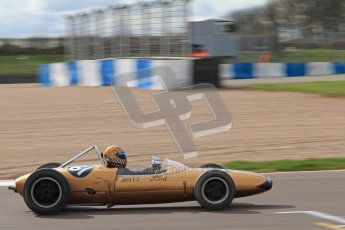 © Octane Photographic Ltd. HSCC Donington Park 17th March 2012. Historic Formula Junior Championship (Rear engine).. Simon Diffey - Lotus 20. Digital ref : 0243lw7d7008