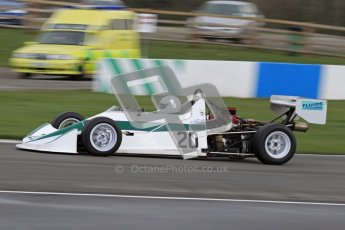 © Octane Photographic Ltd. HSCC Donington Park 17th March 2012. Historic Formula Ford 2000 Championship. David Clark - Dulon MP21. Digital ref : 0251lw7d1223