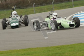 © Octane Photographic Ltd. HSCC Donington Park 17th March 2012. Historic Formula Ford Championship. Robert Wainwright -  Elden Mk8. Digital ref : 0240cb1d6604