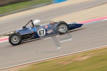© Octane Photographic Ltd. HSCC Donington Park 17th March 2012. Historic Formula Ford Championship. Louis Hanjoul - Elden Mk8/10. Digital ref : 0240cb1d6687