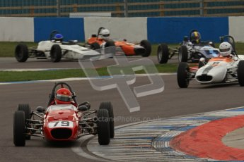 © Octane Photographic Ltd. HSCC Donington Park 17th March 2012. Historic Formula Ford Championship. Ferrao - Merlyn Mk20 followed by Stuart Baird - Merlyn Mk11A. Digital ref : 0240lw7d4322