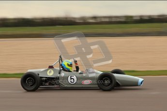 © Octane Photographic Ltd. HSCC Donington Park 17th March 2012. Historic Formula Ford Championship. John Farrell - Merlyn Mk.IIA. Digital ref : 0240lw7d4918
