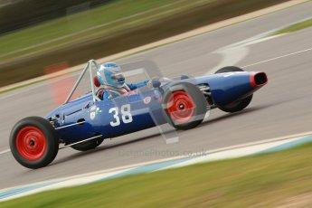 © Octane Photographic Ltd. HSCC Donington Park 17th March 2012. Historic Formula Junior Championship (Front engine). Wyn Lewis - Kieft FJ. Digital ref : 0241cb1d7010