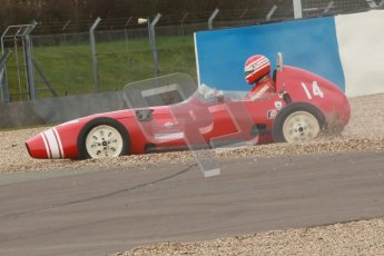 © Octane Photographic Ltd. HSCC Donington Park 17th March 2012. Historic Formula Junior Championship (Front engine). Keith Roach - Condor S2. Digital ref : 0241cb1d7056