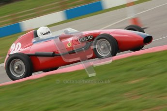 © Octane Photographic Ltd. HSCC Donington Park 17th March 2012. Historic Formula Junior Championship (Front engine). Pat Barford - Stanguellini. Digital ref : 0241cb1d7088