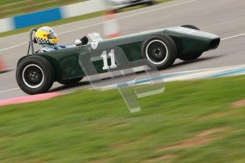 © Octane Photographic Ltd. HSCC Donington Park 17th March 2012. Historic Formula Junior Championship (Front engine). Brian Mitcham - Mallock U2. Digital ref : 0241cb1d7103