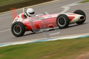© Octane Photographic Ltd. HSCC Donington Park 17th March 2012. Historic Formula Junior Championship (Front engine). Simon Goodliff - Lola Mk2. Digital ref : 0241cb1d7114