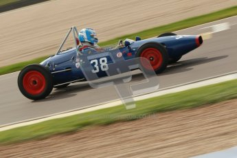 © Octane Photographic Ltd. HSCC Donington Park 17th March 2012. Historic Formula Junior Championship (Front engine). Wyn Lewis - Kieft FJ. Digital ref : 0241cb1d7203