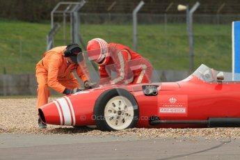 © Octane Photographic Ltd. HSCC Donington Park 17th March 2012. Historic Formula Junior Championship (Front engine). Keith Roach - Condor S2. Digital ref : 0241cb7d3885