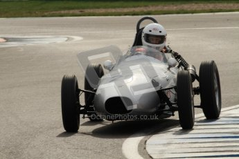 © Octane Photographic Ltd. HSCC Donington Park 17th March 2012. Historic Formula Junior Championship (Front engine). Roger Dexter - Elva 100. Digital ref : 0241cb7d3967