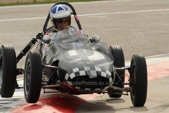 © Octane Photographic Ltd. HSCC Donington Park 17th March 2012. Historic Formula Junior Championship (Front engine). John Chisholm - Gemini Mk2. Digital ref : 0241cb7d3994