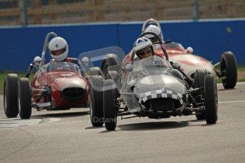 © Octane Photographic Ltd. HSCC Donington Park 17th March 2012. Historic Formula Junior Championship (Front engine). John Chisholm - Gemini Mk2. Digital ref : 0241cb7d4156
