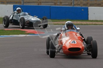 © Octane Photographic Ltd. HSCC Donington Park 17th March 2012. Historic Formula Junior Championship (Front engine). Derek Walker - Terrier Mk IV. Digital ref : 0241lw7d5613