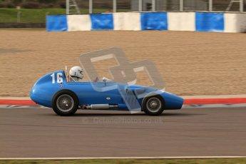 © Octane Photographic Ltd. HSCC Donington Park 17th March 2012. Historic Formula Junior Championship (Front engine). Gordon Wright - Stanguellini. Digital ref : 0241lw7d5805
