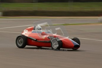 © Octane Photographic Ltd. HSCC Donington Park 17th March 2012. Historic Formula Junior Championship (Front engine). Pat Barford - Stanguellini. Digital ref : 0241lw7d5900