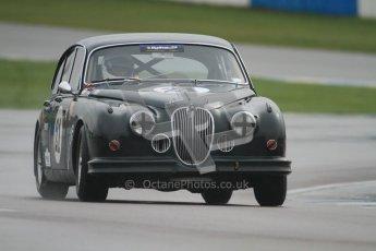 © Octane Photographic Ltd. HSCC Donington Park 18th March 2012. Historic Touring car Championship (over 1600cc). Graeme Dodd - Jaguar Mkii. Digital ref : 0249cb7d6037