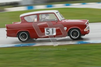 © Octane Photographic Ltd. HSCC Donington Park 18th May 2012. Historic Touring car Championship (up to 1600cc). James Claridge - Ford Anglia. Digital ref : 0246cb1d8005