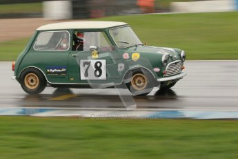 © Octane Photographic Ltd. HSCC Donington Park 18th May 2012. Historic Touring car Championship (up to 1600cc). Colin Flynn - Morris Mini Cooper S. Digital ref : 0246cb1d8011