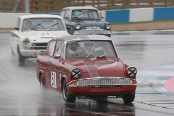 © Octane Photographic Ltd. HSCC Donington Park 18th May 2012. Historic Touring car Championship (up to 1600cc). James Claridge - Ford Anglia. Digital ref : 0246cb1d8019