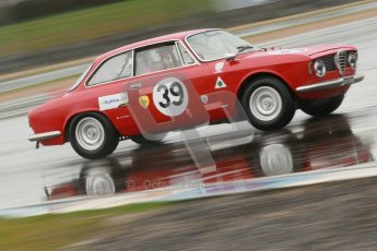 © Octane Photographic Ltd. HSCC Donington Park 18th May 2012. Historic Touring car Championship (up to 1600cc). Paul Hopkinson - Alfa Romeo Giulia Sprint GT. Digital ref : 0246cb1d8085