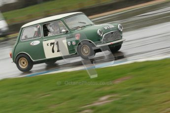 © Octane Photographic Ltd. HSCC Donington Park 18th May 2012. Historic Touring car Championship (up to 1600cc). Marc Earnshaw - Austin Mini Cooper S. Digital ref : 0246cb1d8107