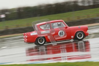 © Octane Photographic Ltd. HSCC Donington Park 18th May 2012. Historic Touring car Championship (up to 1600cc). Andrew Law - Ford Anglia 105E. Digital ref : 0246cb1d8149