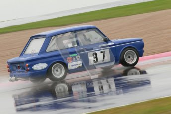 © Octane Photographic Ltd. HSCC Donington Park 18th May 2012. Historic Touring car Championship (up to 1600cc). David Heale - Hillman Imp. Digital ref : 0246cb1d8162