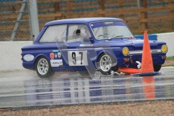 © Octane Photographic Ltd. HSCC Donington Park 18th May 2012. Historic Touring car Championship (up to 1600cc). David Heale - Hillman Imp. Digital ref : 0246cb7d5458