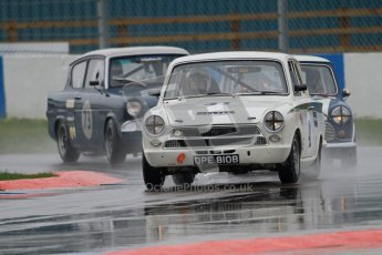 © Octane Photographic Ltd. HSCC Donington Park 18th May 2012. Historic Touring car Championship (up to 1600cc). Neil Brown - Ford Lotus Cortina. Digital ref : 0246cb7d5499