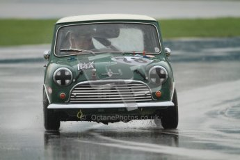 © Octane Photographic Ltd. HSCC Donington Park 18th May 2012. Historic Touring car Championship (up to 1600cc). Colin Flynn - Morris Mini Cooper S. Digital ref : 0246cb7d5507