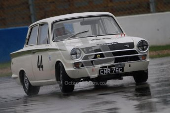 © Octane Photographic Ltd. HSCC Donington Park 18th May 2012. Historic Touring car Championship (up to 1600cc). Tim Davis - Ford Cortina. Digital ref : 0246cb7d5570