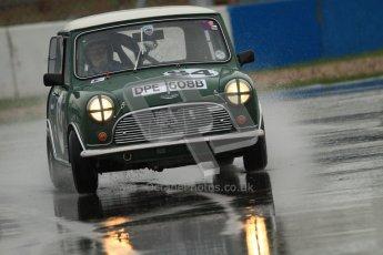 © Octane Photographic Ltd. HSCC Donington Park 18th May 2012. Historic Touring car Championship (up to 1600cc). Roger Phillips - Austin Mini Cooper S. Digital ref : 0246cb7d5577