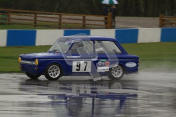 © Octane Photographic Ltd. HSCC Donington Park 18th May 2012. Historic Touring car Championship (up to 1600cc). David Heale - Hillman Imp. Digital ref : 0246lw7d8316
