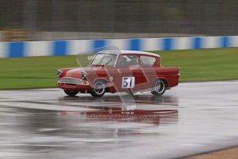 © Octane Photographic Ltd. HSCC Donington Park 18th May 2012. Historic Touring car Championship (up to 1600cc). James Claridge - Ford Anglia. Digital ref : 0246lw7d8361