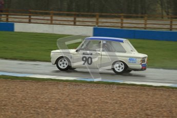 © Octane Photographic Ltd. HSCC Donington Park 18th May 2012. Historic Touring car Championship (up to 1600cc). Jon Orr - Hillman Imp. Digital ref : 0246lw7d8513