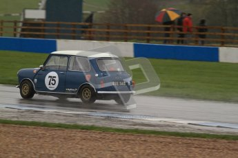 © Octane Photographic Ltd. HSCC Donington Park 18th May 2012. Historic Touring car Championship (up to 1600cc). Tim Harber - Austin Mini. Digital ref : 0246lw7d8602