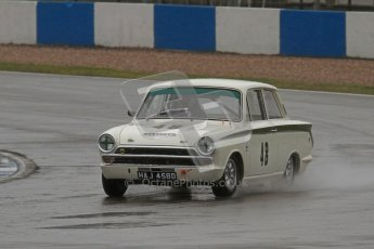 © Octane Photographic Ltd. HSCC Donington Park 18th May 2012. Historic Touring car Championship (up to 1600cc). Eifion Jones - Ford Lotus Cortina. Digital ref : 0246lw7d8741