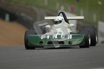 © 2012 Octane Photographic Ltd. HSCC Historic Super Prix - Brands Hatch - 30th June 2012. HSCC Grandstand Motor Sport Historic Formula 2 - Qualifying. Bob Sellix - Lyncar 005. Digital Ref: 0377lw1d8933