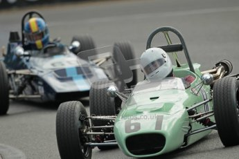 © 2012 Octane Photographic Ltd. HSCC Historic Super Prix - Brands Hatch - 1st July 2012. HSCC - Historic Formula Ford - Qualifying. Harvey Sykes - Merlyn Mk.17 and James Buckton - Elden Mk.8. Digital Ref: 0383lw1d0980
