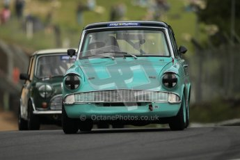 © 2012 Octane Photographic Ltd. HSCC Historic Super Prix - Brands Hatch - 1st July 2012. HSCC - Historic Touring Cars - Qualifying. Liza Read - Ford Anglia 105E. Digital Ref: 0384lw1d1142