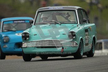 © 2012 Octane Photographic Ltd. HSCC Historic Super Prix - Brands Hatch - 1st July 2012. HSCC - Historic Touring Cars - Qualifying. Liza Read - Ford Anglia 105E. Digital Ref: 0384lw1d1218