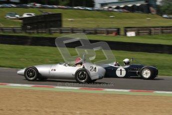 © 2012 Octane Photographic Ltd. HSCC Historic Super Prix - Brands Hatch - 30th June 2012. HSCC - Lurani Trophy - Qualifying. Michael Waller - Hillwood and John Delane Lotus 18. Digital Ref: 0382lw7d4522