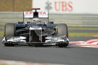 © 2012 Octane Photographic Ltd. Hungarian GP Hungaroring - Sunday 29th July 2012 - F1 Race. Williams FW34 - Pastor Maldonado. Digital Ref :