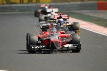 © 2012 Octane Photographic Ltd. Hungarian GP Hungaroring - Sunday 29th July 2012 - F1 Race. Marussia MR01 - Charles Pic and Toro Rosso STR7 - Daniel Ricciardo. Digital Ref :