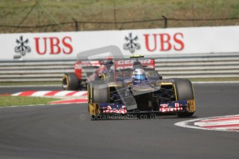 © 2012 Octane Photographic Ltd. Hungarian GP Hungaroring - Sunday 29th July 2012 - F1 Race. Toro Rosso STR7 - Jean-Eric Vergne and Daniel Ricciardo. Digital Ref :