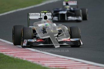 © 2012 Octane Photographic Ltd. Hungarian GP Hungaroring - Sunday 29th July 2012 - F1 Race. Sauber C31 - Sergio Perez and Williams FW34 - Bruno Senna. Digital Ref :