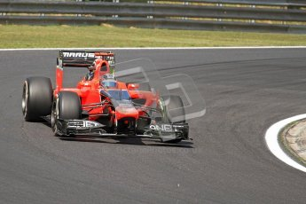 © 2012 Octane Photographic Ltd. Hungarian GP Hungaroring - Friday 27th July 2012 - F1 Practice 1. Marussia MR01 - Timo Glock. Digital Ref : 0425cb7d9635