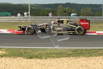 © 2012 Octane Photographic Ltd. Hungarian GP Hungaroring - Friday 27th July 2012 - F1 Practice 1. Lotus E20 - Kimi Raikkonen. Digital Ref : 0425lw1d4660