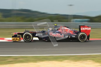 © 2012 Octane Photographic Ltd. Hungarian GP Hungaroring - Friday 27th July 2012 - F1 Practice 1. Toro Rosso STR7 - Jean-Eric Vergne. Digital Ref : 0425lw1d4753