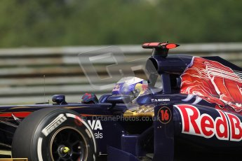 © 2012 Octane Photographic Ltd. Hungarian GP Hungaroring - Friday 27th July 2012 - F1 Practice 1. Toro Rosso STR7 - Daniel Ricciardo. Digital Ref :